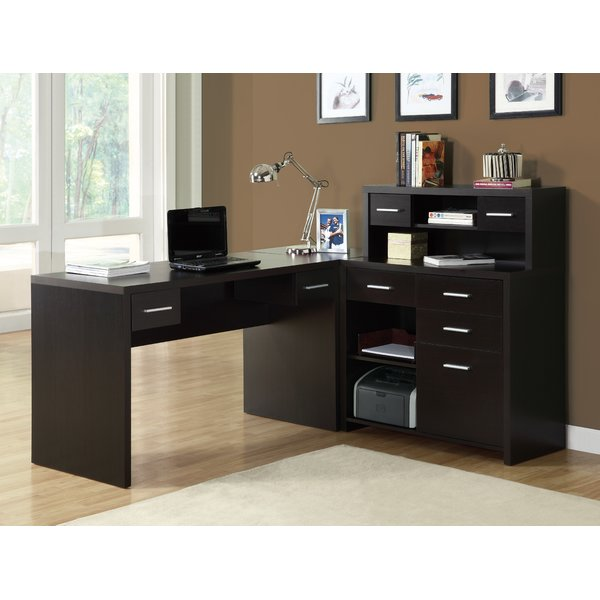 Beautiful l shaped computer desk brayden studio covey home office l-shaped computer desk with hutch u0026  reviews udxhcod