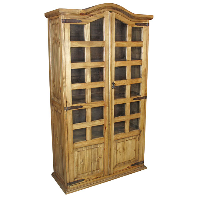 Beautiful pine bookcase mexican pine bookshelf cabinet with two doors dtyhflu