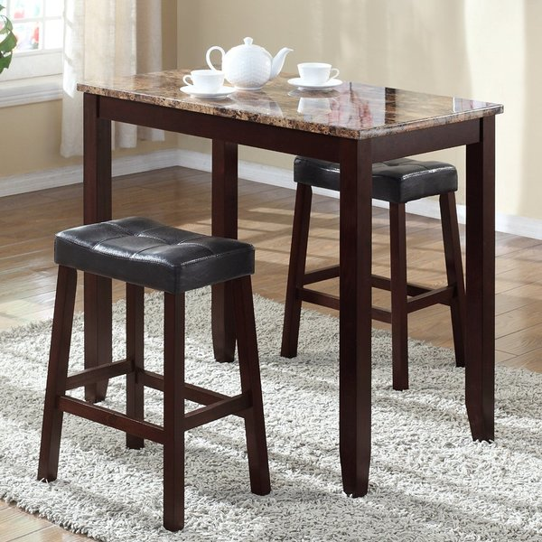 Beautiful pub table and chairs andover mills daisy 3 piece counter height pub table set u0026 reviews | hornyae