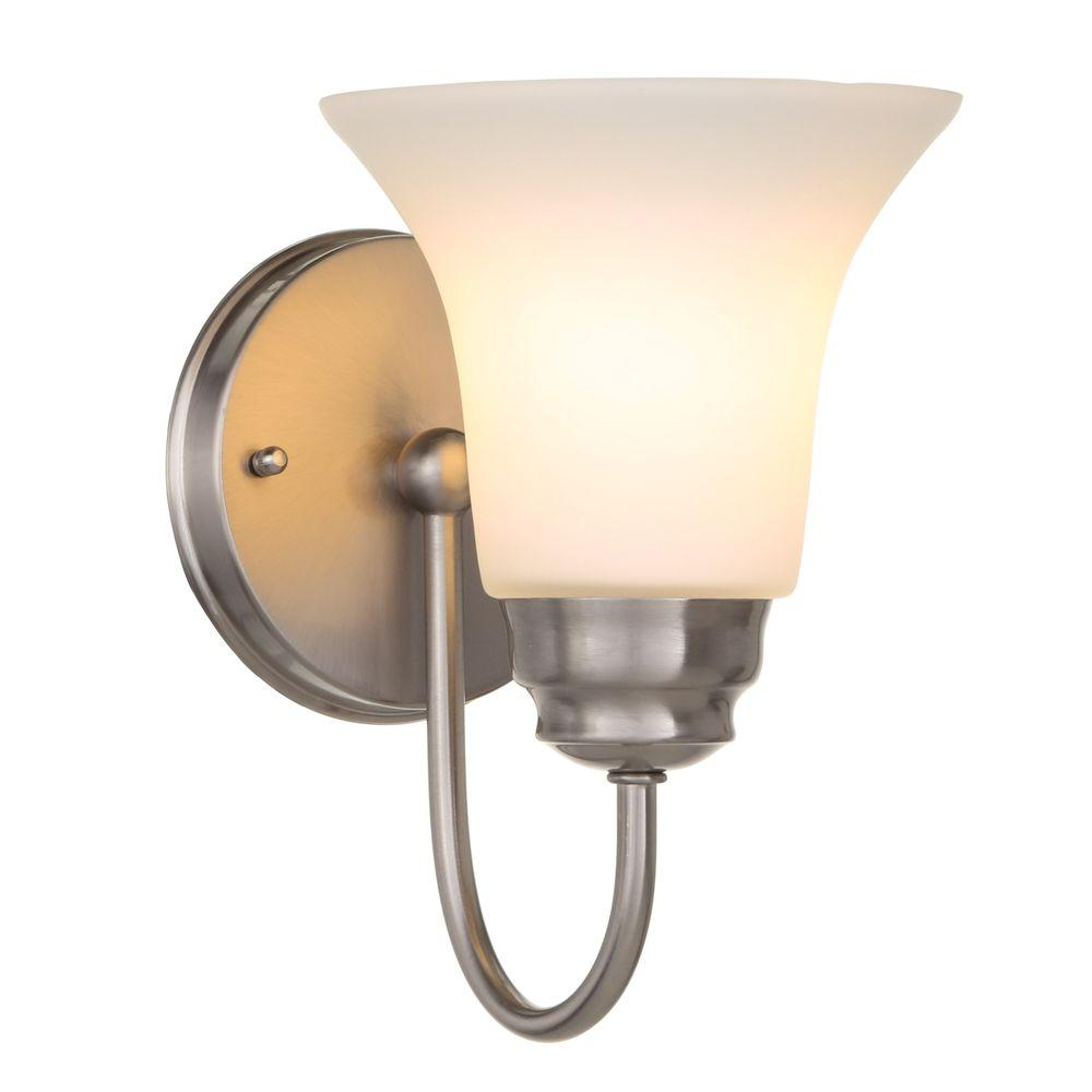 Beautiful sconce lighting 1-light brushed nickel sconce uqwjsyq