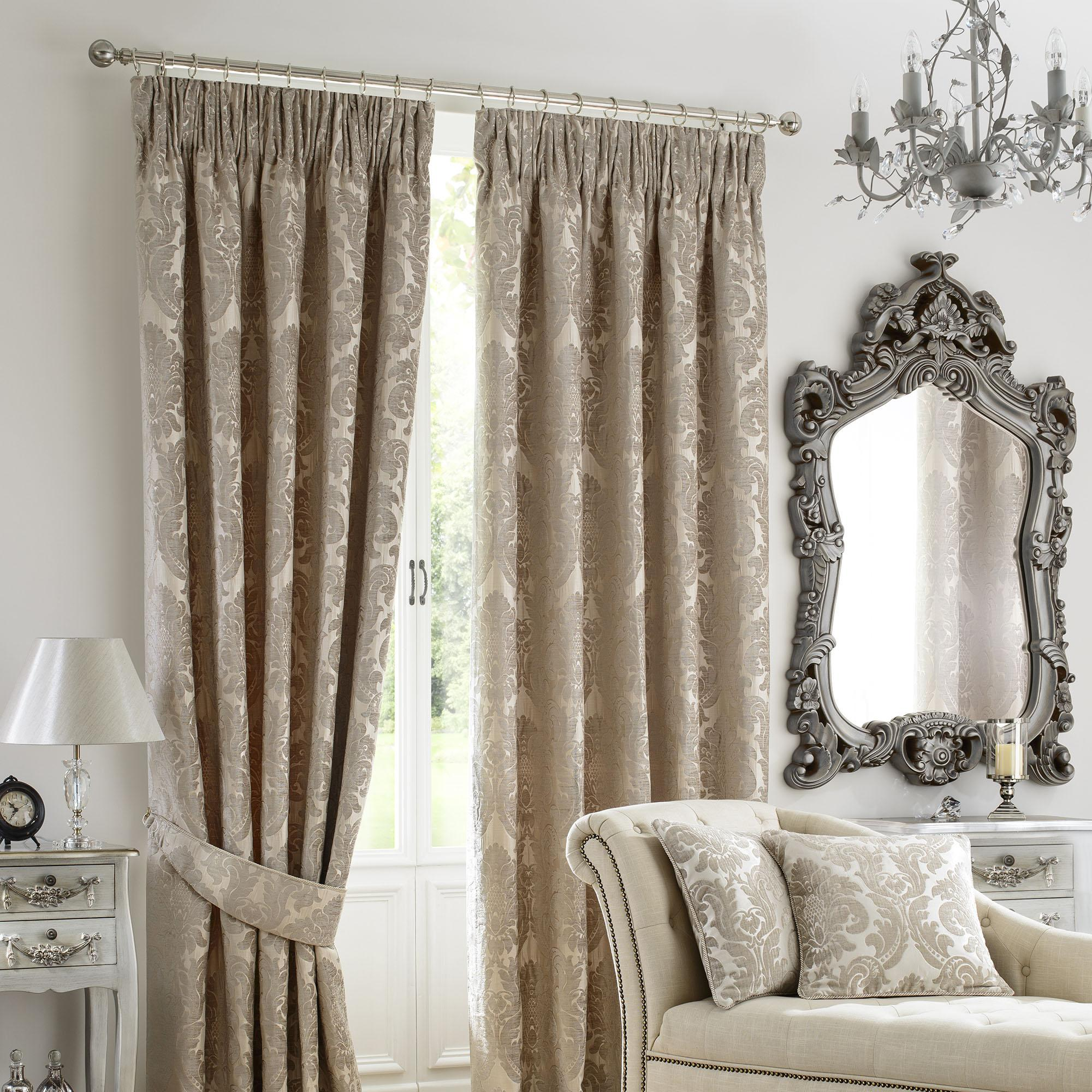 Beautiful versailles natural pencil pleat curtains zvfzfzo