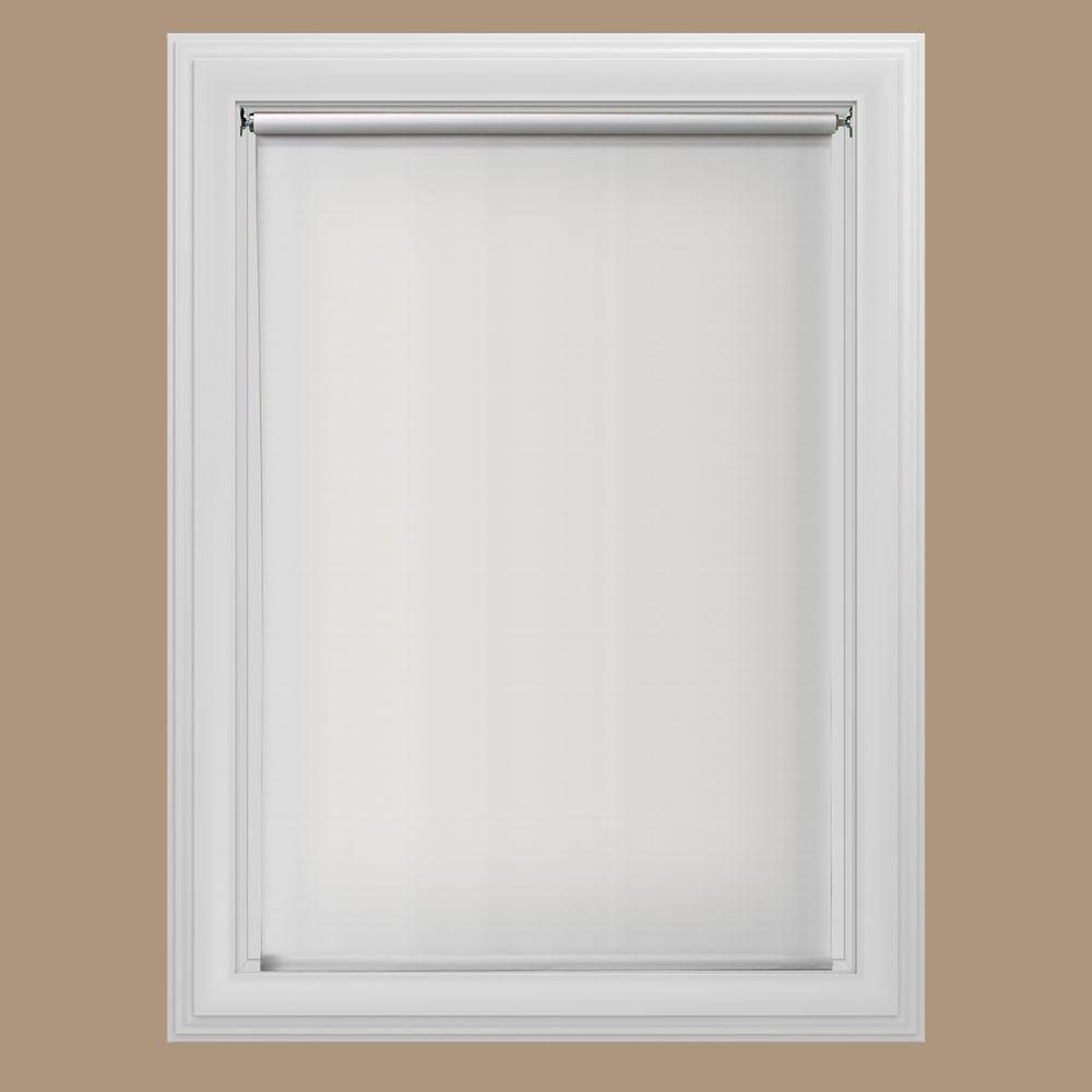 Beautiful window shades white cordless 12 mm blackout vinyl roller shade - 46.5 in. ieqdosb