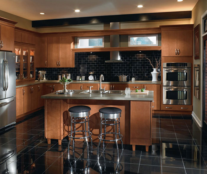 Beautiful wood cabinets ... contemporary maple kitchen cabinets by homecrest cabinetry ... thfqkuh