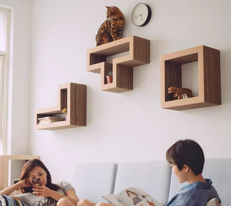 Best cat shelves letu0027s face it, cats are natural climbers and will jump to any place rymmhiu