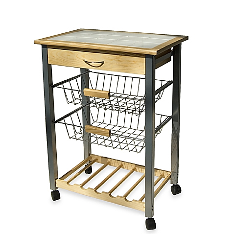 Best kitchen carts rolling kitchen cart with two baskets ogwimbn