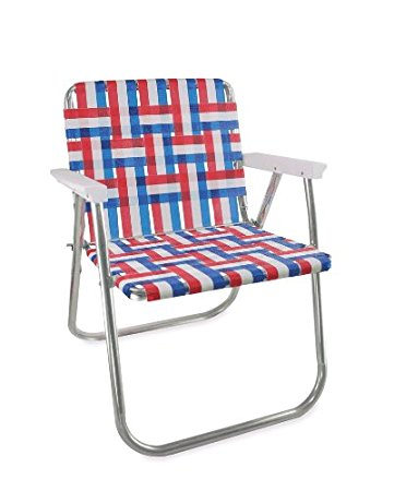 Best lawn chair usa aluminum webbed chair (picnic chair, old glory with white prlvshj