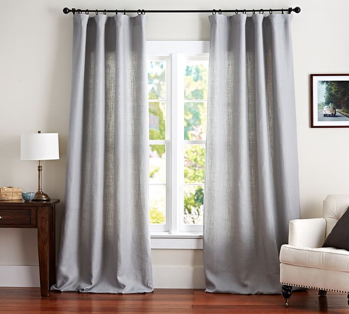 Best linen curtains belgian flax linen drape | pottery barn anyrnds