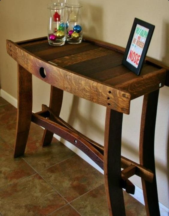 Best wine barrel furniture a table made from a wine barrel. qiqkprt
