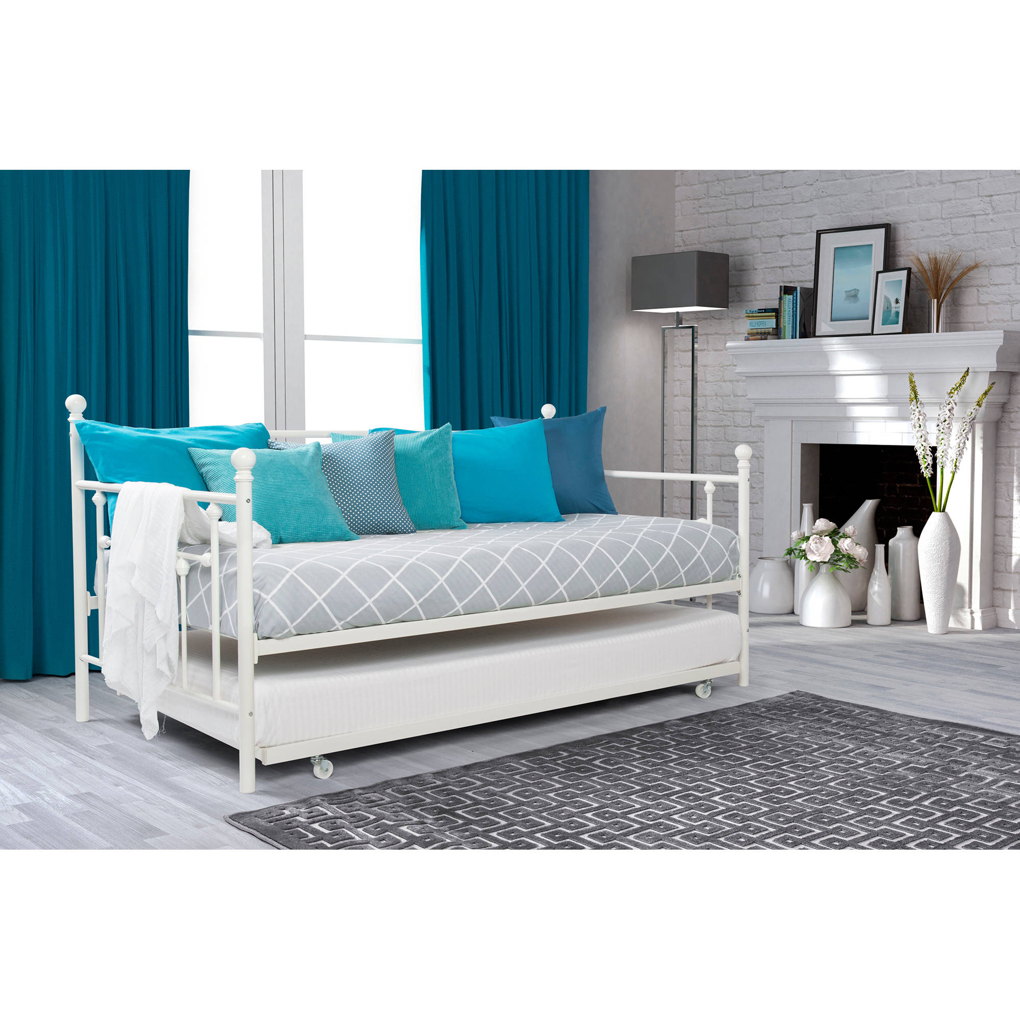 Chic day bed dhp manila twin daybed and trundle, multiple colors ccnqmth