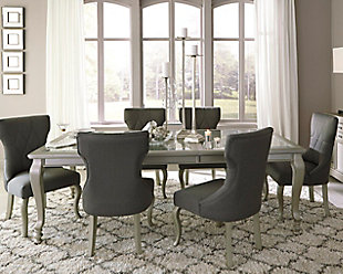 Chic dining room furniture on a white background ercdmwb