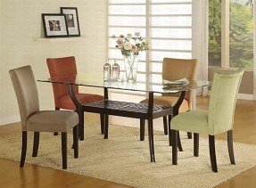 Chic glass top dining table glass top dining tables with wood base nsomiaz