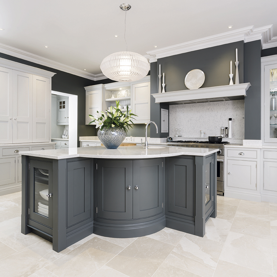 Chic grey kitchens   ideal home onmpecl