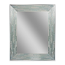 Chic large wall mirrors image of reeded sea glass 24-inch x 30-inch frameless mirror zcmlmpw