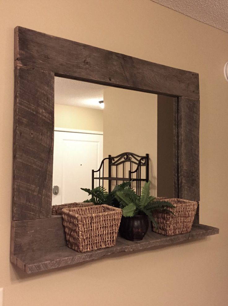 Chic large wall mirrors rustic wood mirror pallet furniture rustic home decor reclaimed pallet wood large tcsdfoy