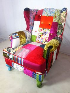 Chic patchwork sofa items similar to patchwork parker knoll sofa in designers guild velvets on lqhrfab