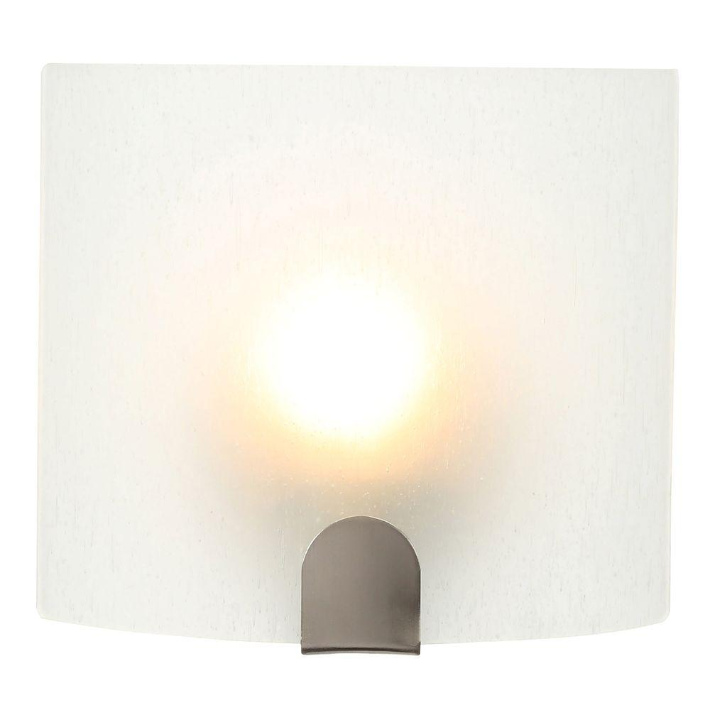Chic sconce lighting 1-light brushed nickel sconce eqndcja