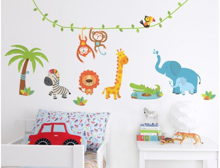 Chic wall stickers for kids jungle wall stickers jungle wall stickers ... fqysitd