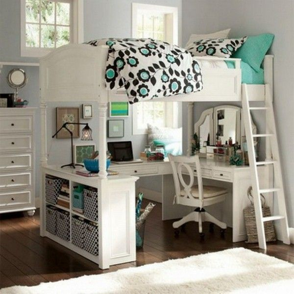 Chic white beds for teens awesome loft beds with desk for teens resized quspgcb