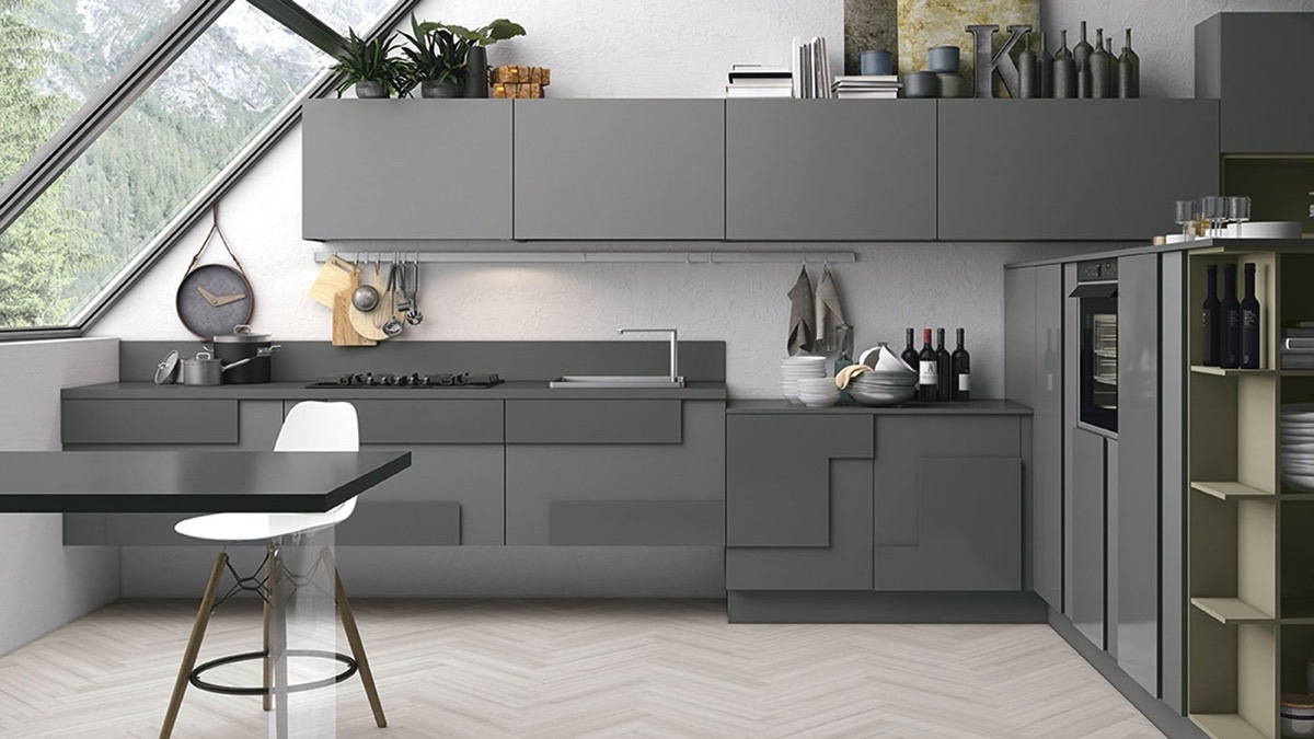 Go grey with our various grey kitchens products
