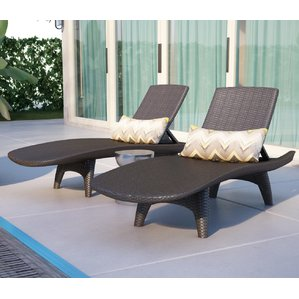 Collection chaise lounge outdoor clarita chaise lounge (set of 2) xouoqcu