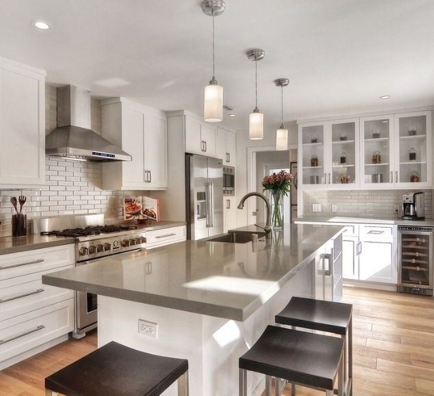 Collection contemporary kitchen with corian-solid surface countertop in dove, pendant  light, recessed panel zusmzqk
