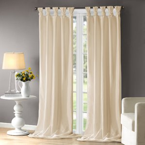 Collection cream curtains rivau solid room darkening tab top single curtain panel kvjingi