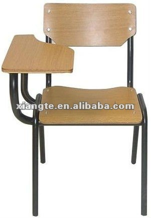 Collection durable school chairs with tablet arm, metal frame and plywood training  chair dhycbll