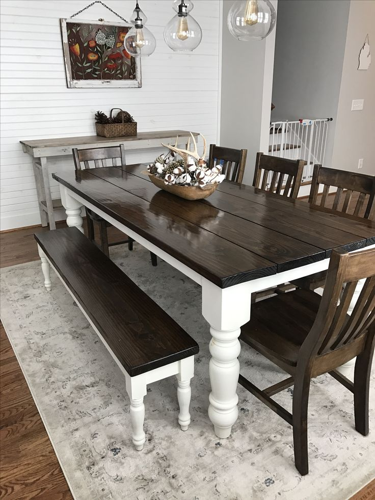 Collection farmhouse table the wall custom built, solid wood modern farmhouse dining furniture. l x w xtwkvtu