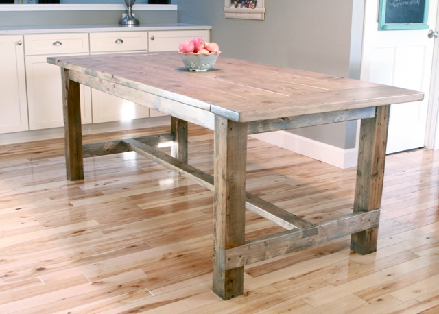 Collection free plans to build a farmhouse table. this plan uses pocket holes and qafmelt
