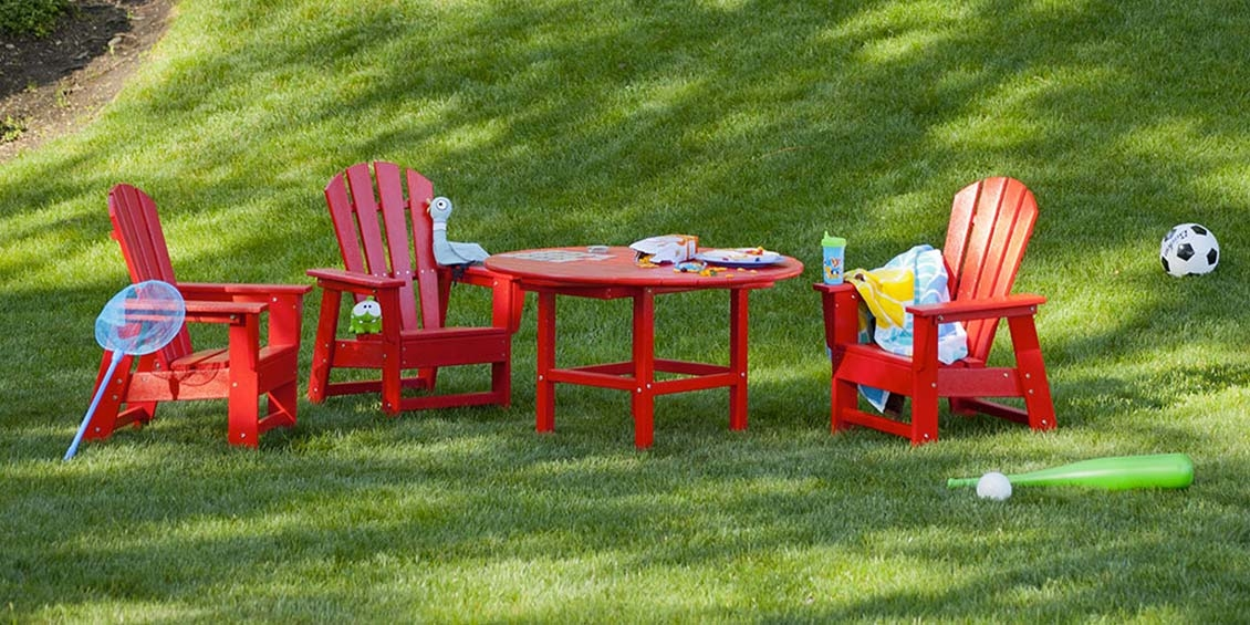 Different types of kid's outdoor furniture