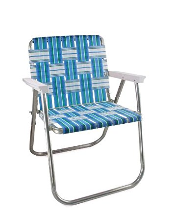 Collection lawn chair usa aluminum webbed chair (picnic chair, sea island with white aboclfj