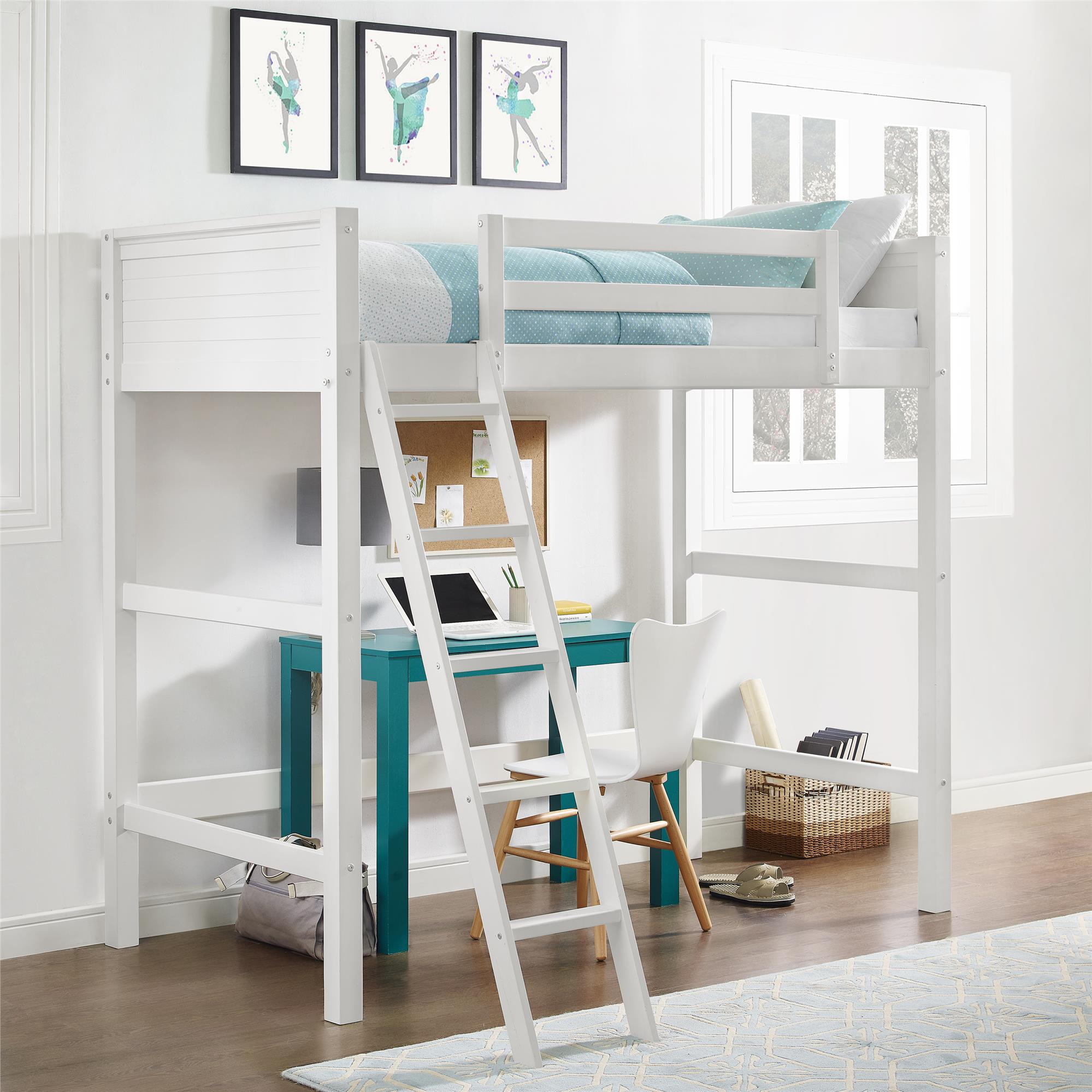 Collection loft beds your zone twin wood loft bed, multiple colors mhvcsiw
