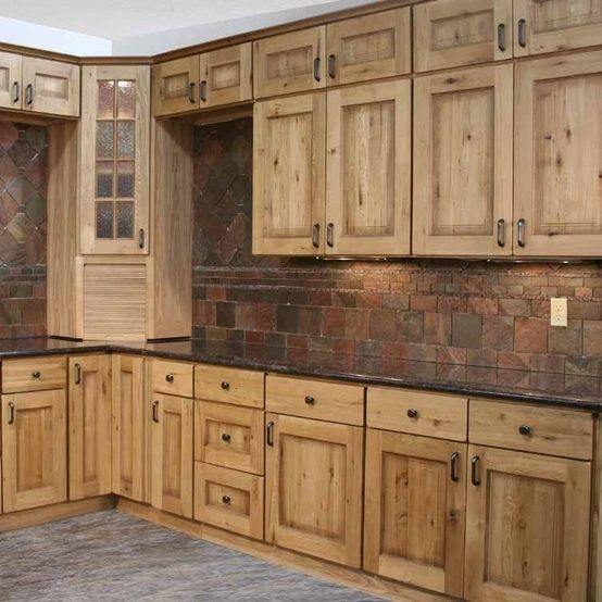 Collection looks like barn wood cabinets. love these! - different backsplash though tcnqgub