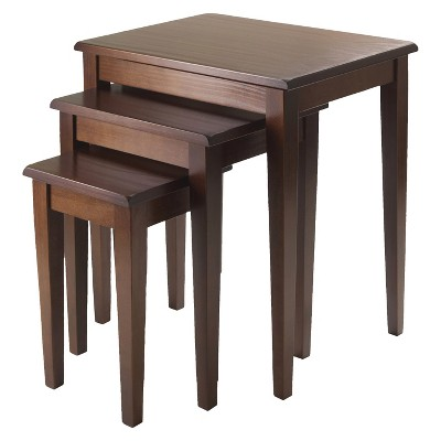 Collection nesting tables 3 piece regalia nesting table walnut - winsome eqgeznz
