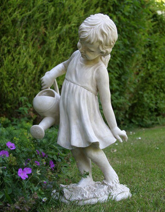 Collection of garden statues and ornaments | girl figure garden statue - watering the zfxvukm
