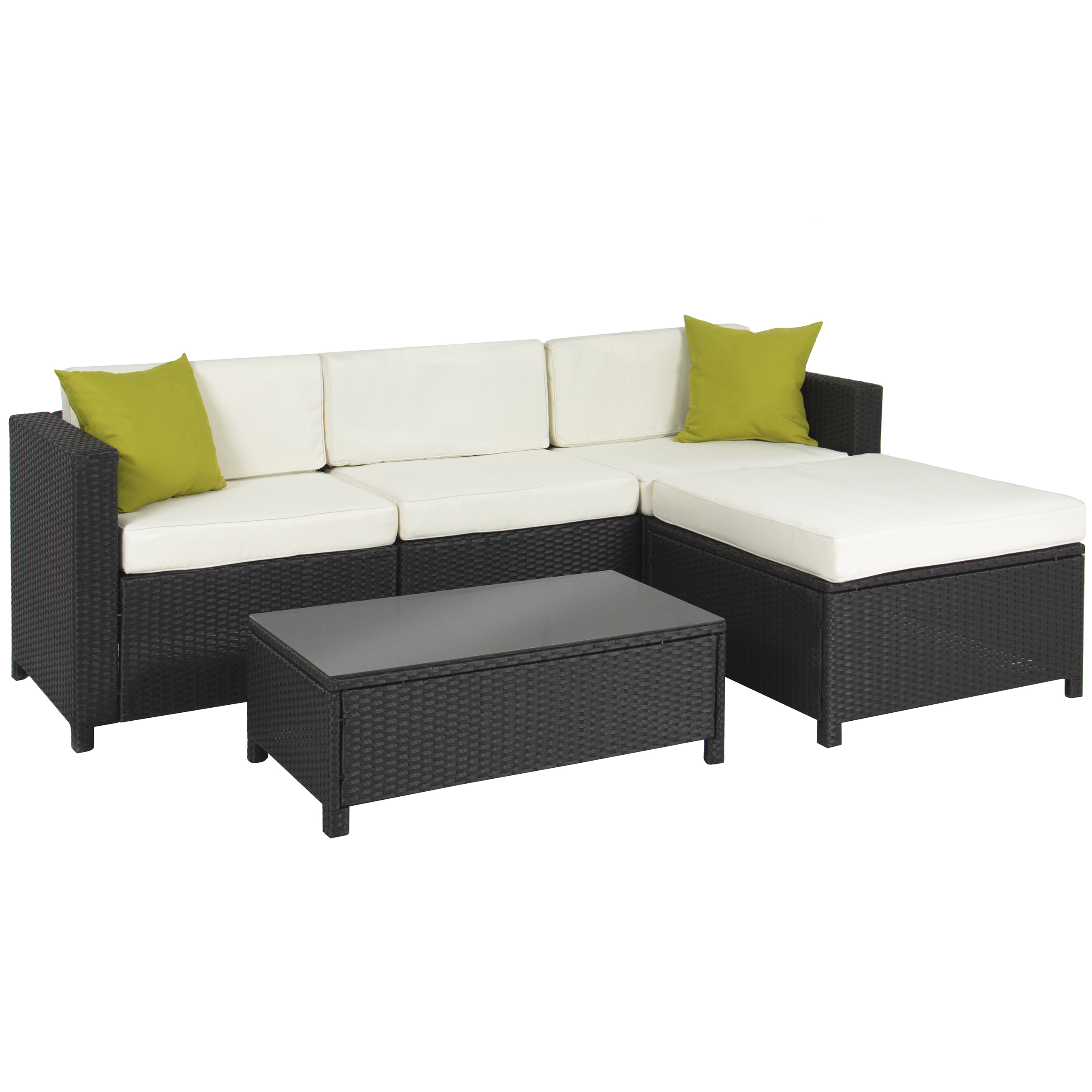 Collection outdoor couch outdoor patio furniture cushioned 5pc rattan wicker aluminum frame  sectional sofa set hdunbtn