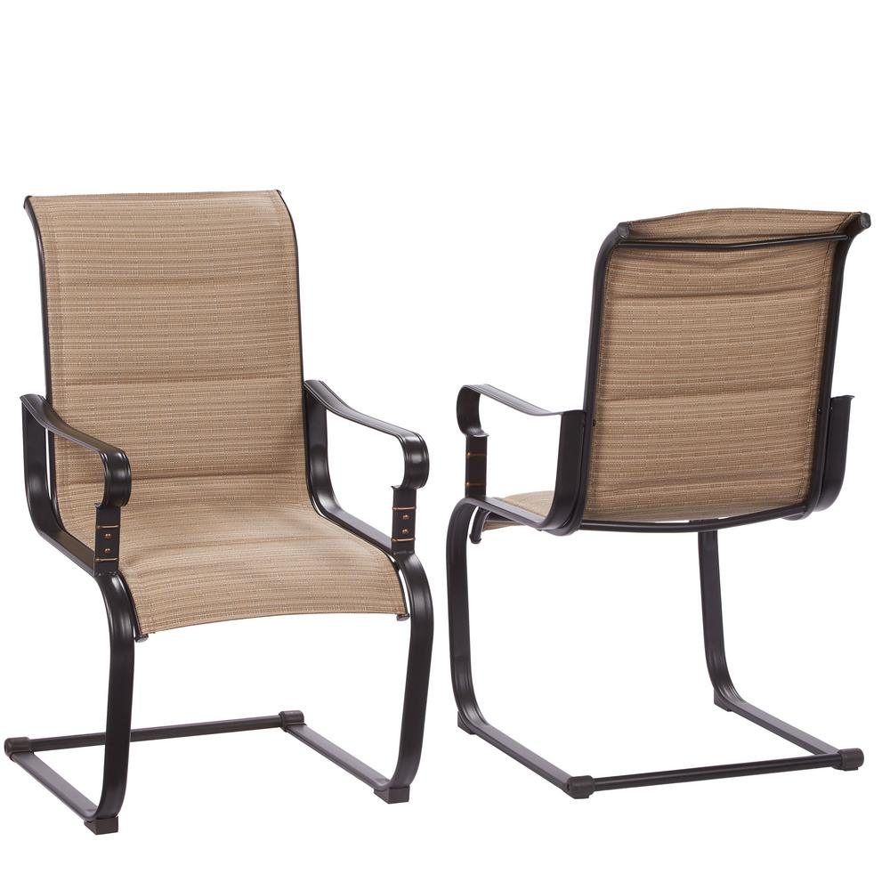 Collection patio chair belleville rocking padded sling outdoor dining chairs ... nokirzm