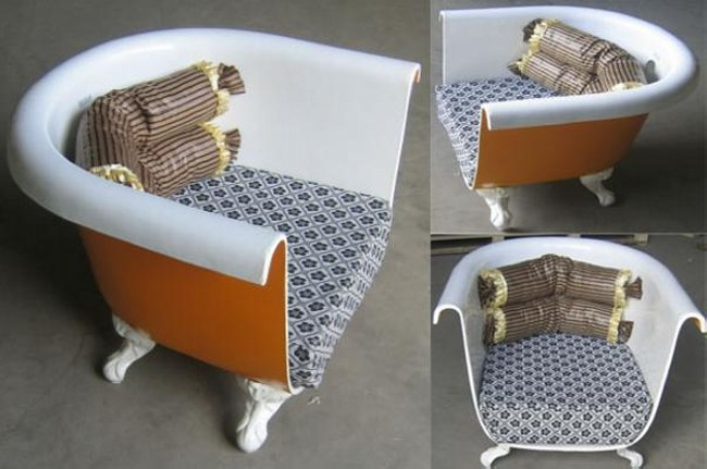 Collection recycled furniture ... recycled suitcase chair reuse bath tubs furniture chair ... imtgjlr