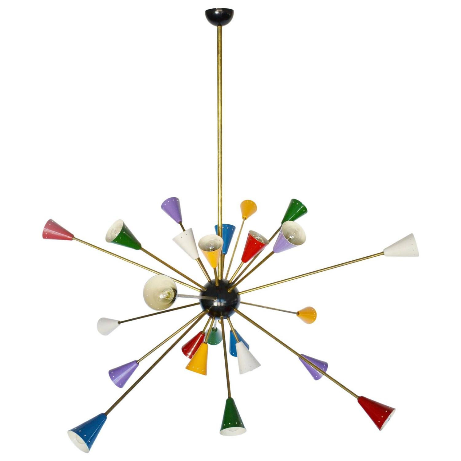 Collection spectacular authentic mid-century italian multi-color sputnik chandelier at  1stdibs quoisuj