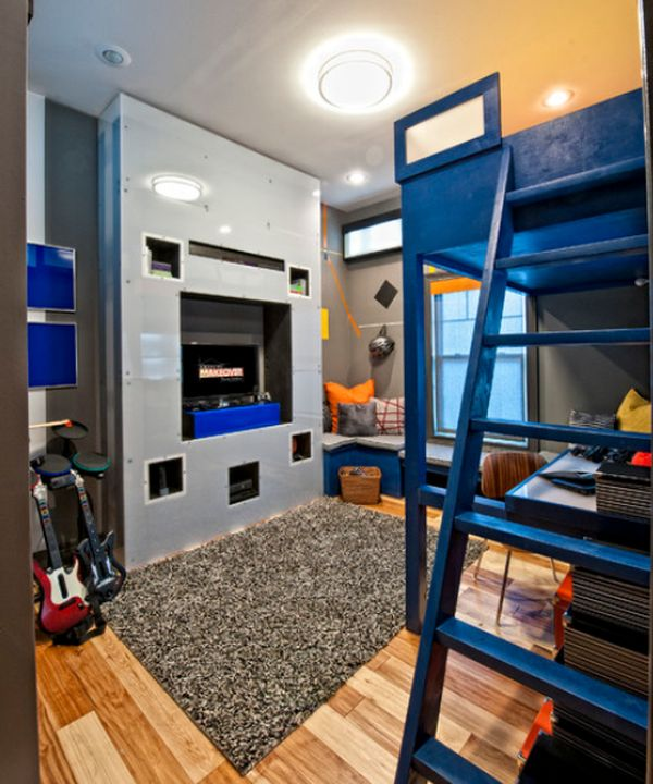 Collection teen boy bedroom ideas ... teenage boyu0027s bedroom with a dark color palette and contrasting  textures iytasof