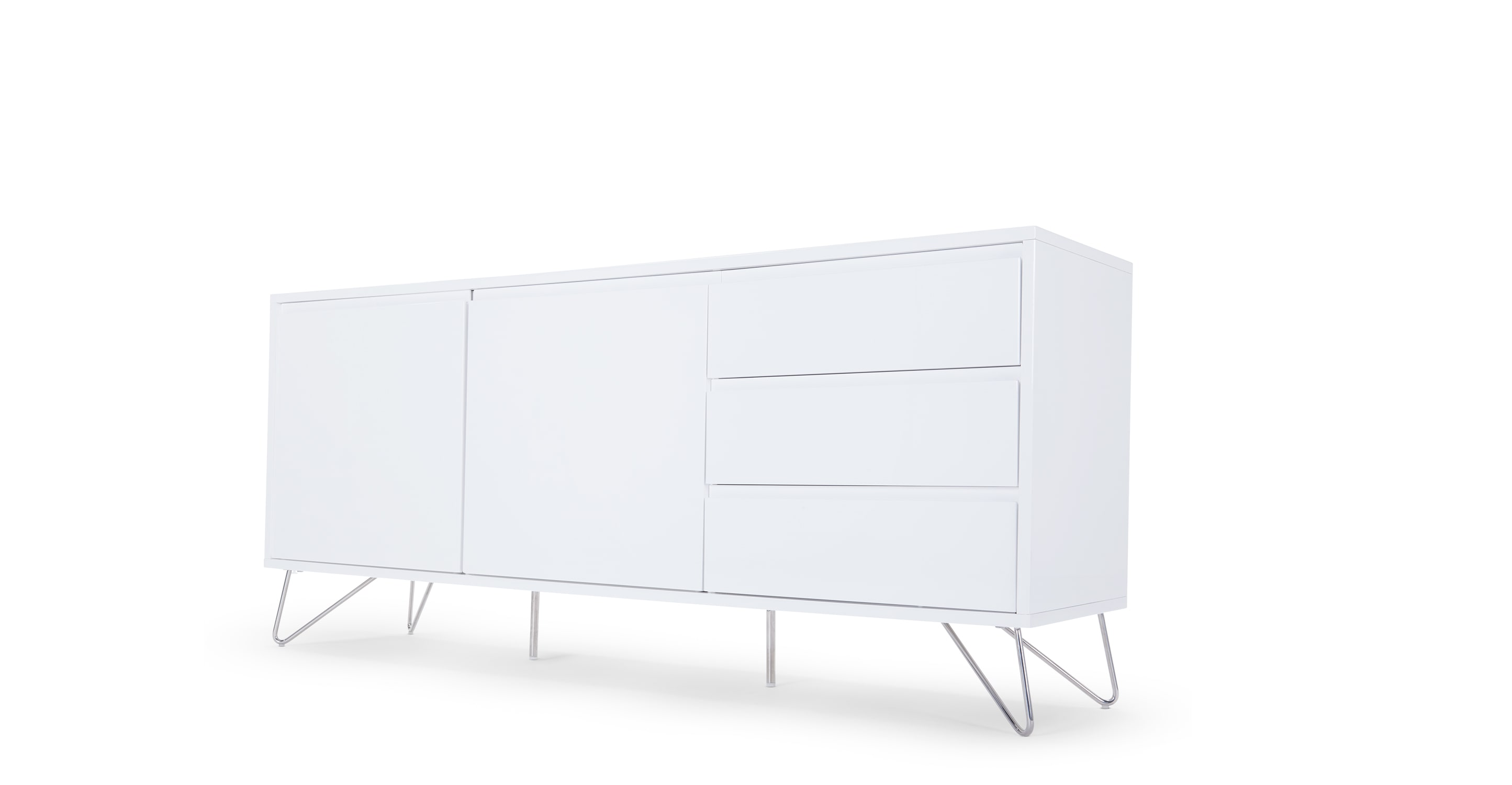 Collection white sideboard elona. a sideboard, in white louxtii