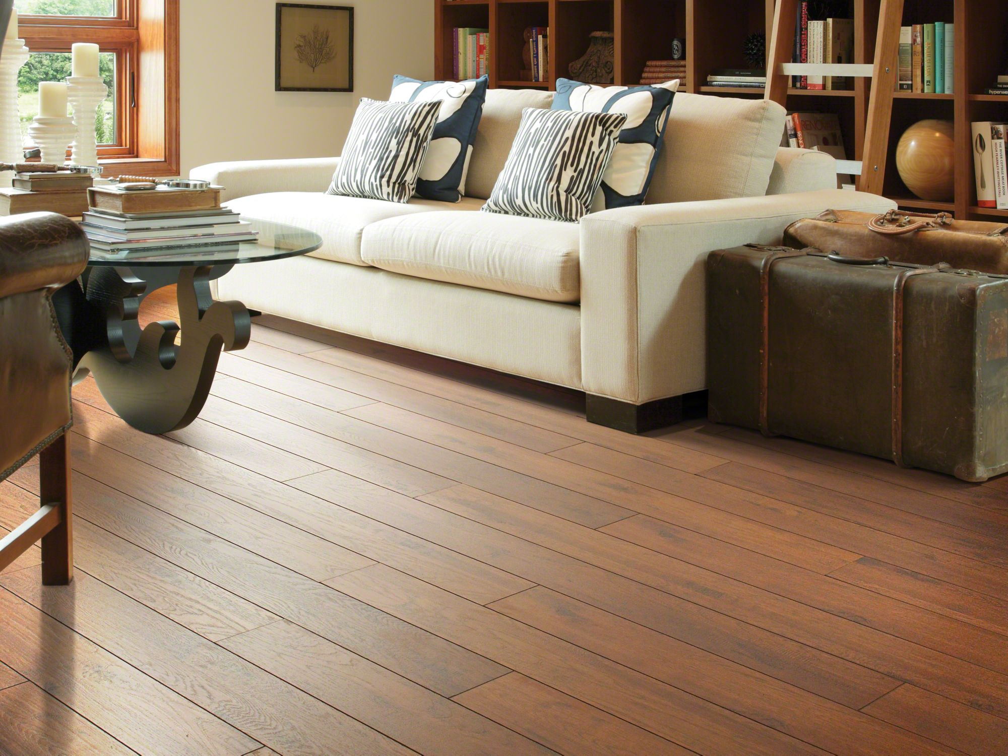 Why is wood laminate flooring popular?