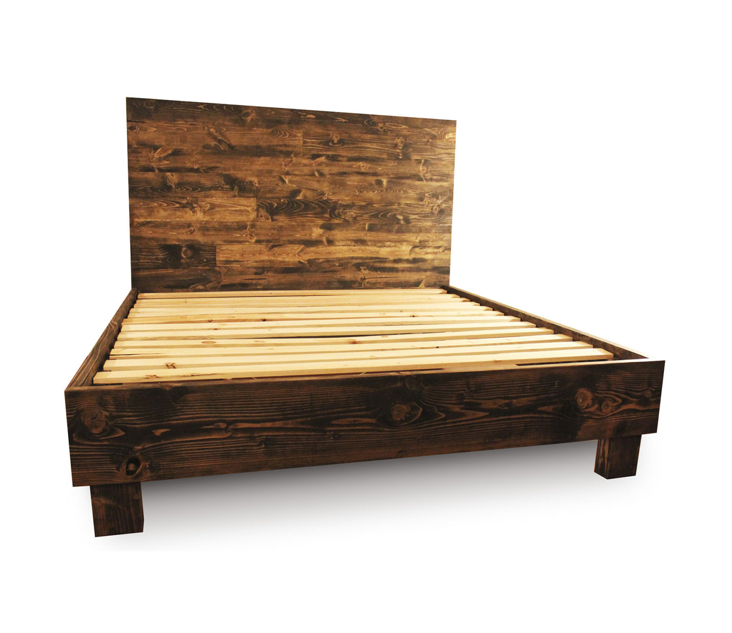 Collection wooden bed frames full size of bed frames:solid wood full size headboard rustic wood beds raqqkpr