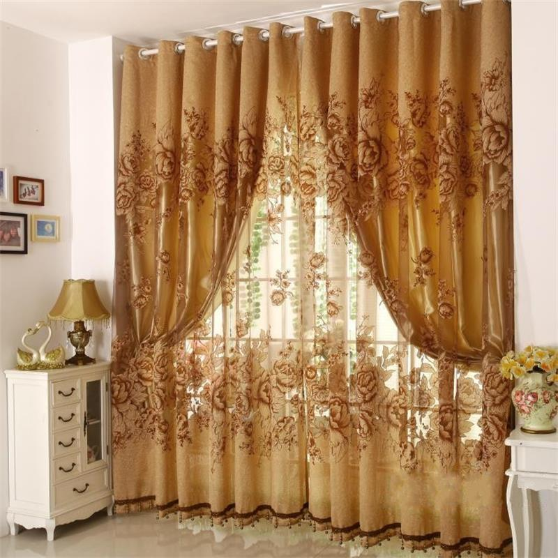 Collection zhh hot high quality european style luxury curtains design tulle punching  curtain xyanxkg