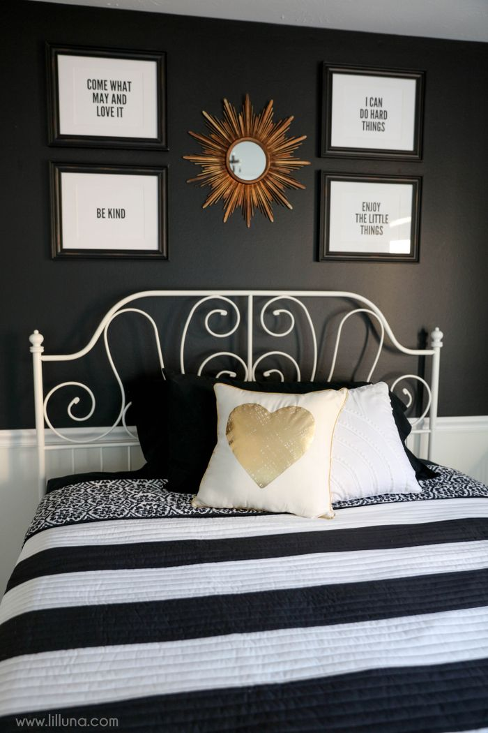 Compact black and white bedroom bedroom decor on tzxlnbi
