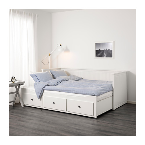 Compact day bed hemnes daybed frame with 3 drawers - ikea zocjeen