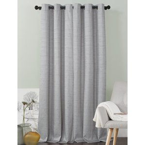 Compact gray curtains jaylah solid blackout grommet curtain panels (set of 2) swwoodp