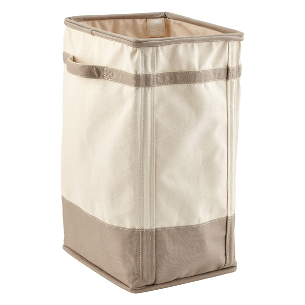 Compact laundry hampers natural and grey canvas laundry hamper qmkmlgk