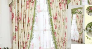 Compact shabby chic curtains shabby chic curtain with floral pattern and green color emzimgz