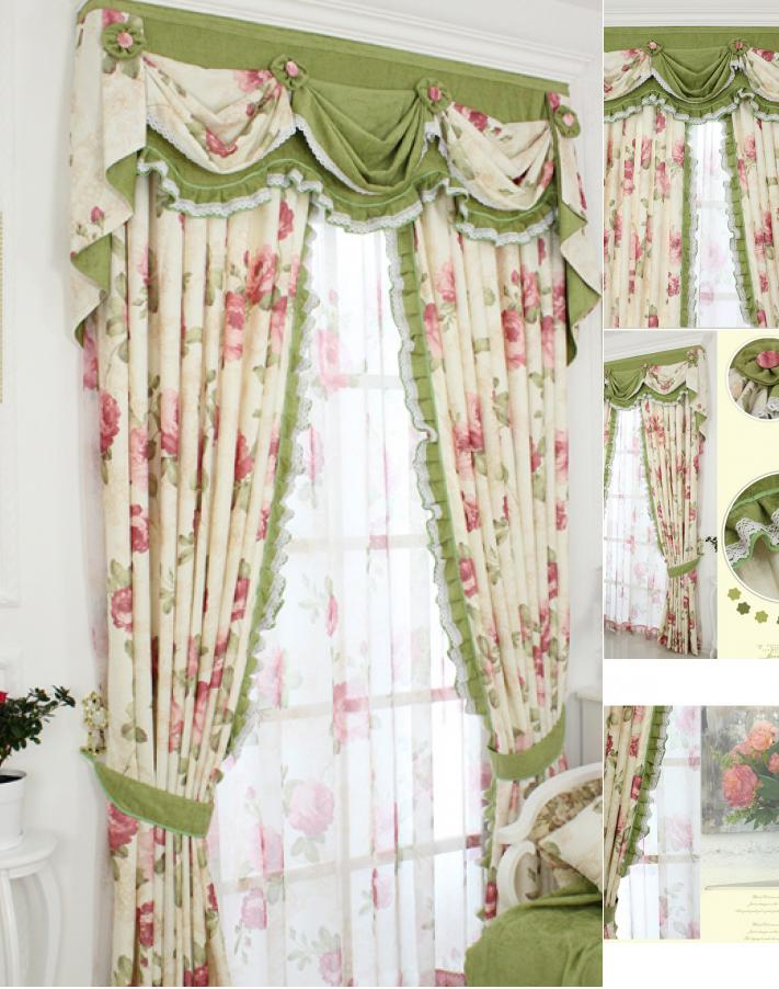 Beautify every room with shabby chic curtains